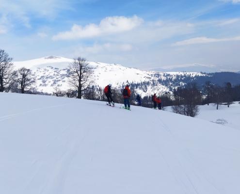 Goderdzi Beshumi Ridge skiing